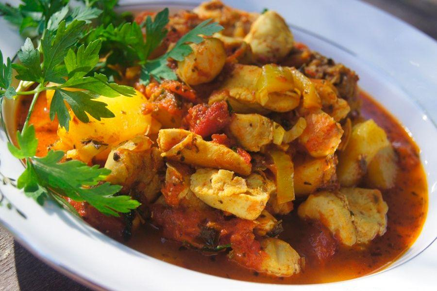 Чахохбили с курицей и картошкой рецепт