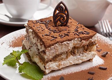 Готовим торт Тирамису дома: с печеньем Савоярди и обычным бисквитом