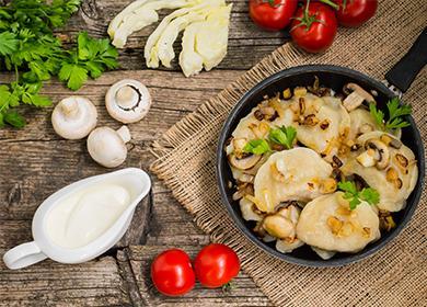 Готовим вкусные вареники скартошкой игрибами— 5секретов идеального блюда!