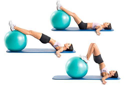 Упражнения для упругости ягодиц на фитболе