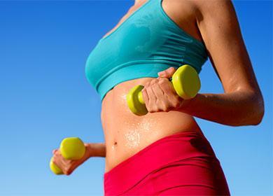 Спортсменка мешает жир внизу живота