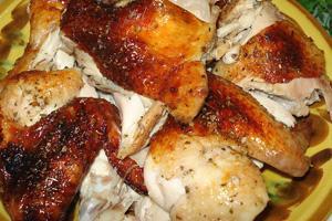 Кусочки курицы в меду с соевым соусом