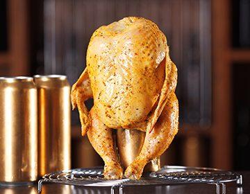 курица в духовке на бутылке рецепт с фото