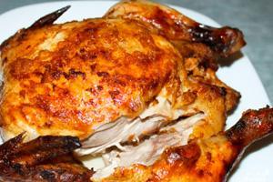 Курица с румяной корочкой