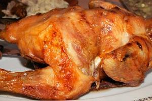 Курица гриль с чесноком
