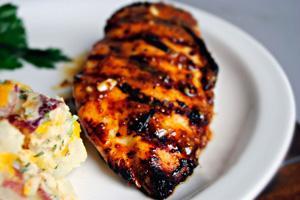 Курица гриль с аппетитной корочкой
