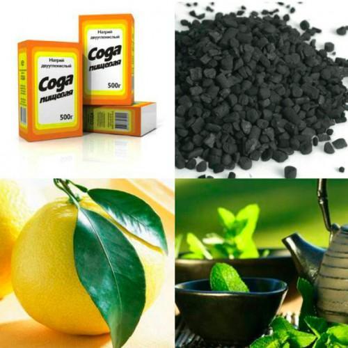 Сода лимон уголь активированный масло чайного дерева