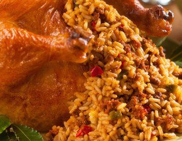 рецепт курица с рисом и овощами в духовке рецепт с фото