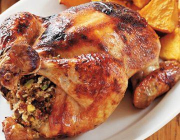 Чем начинить курицу в духовке