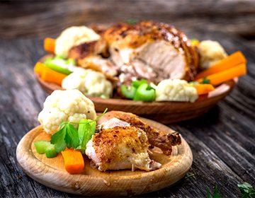 Приготовить курицу в духовке с овощами рецепт