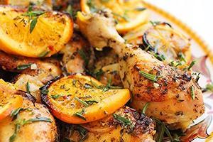 Рецепт куриных ножек с апельсином