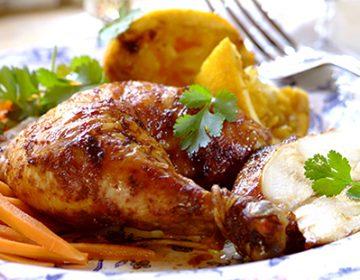 филе бедра курицы с мандаринами