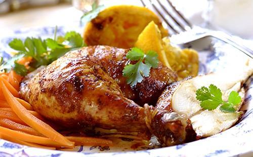 Фруктово-овощной гарнир к курице порадует глаза и желудок