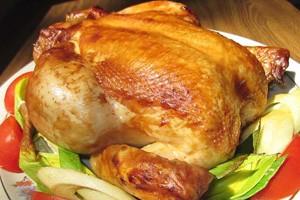 как приготовить курицу в рукаве целиком с лимоном