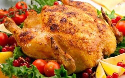 Курица с помидорами черри и смородиной
