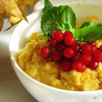 Осення каша с ягодами и тыквой