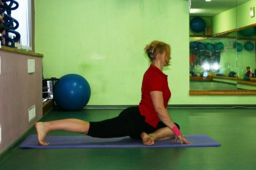 Упражнение Голубь, позиция 2