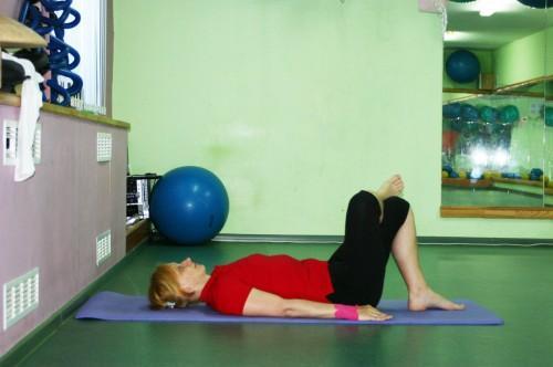 Упражнение Полумост, позиция 1