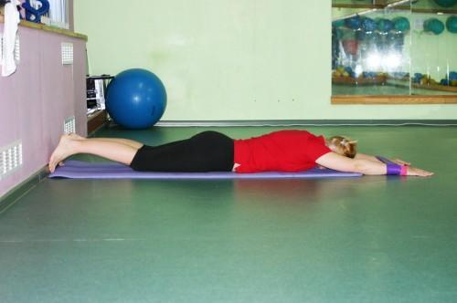 Упражнение Вытяжение, позиция 1