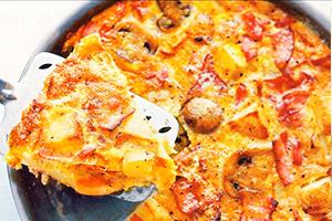 омлет с картошкой и грибами