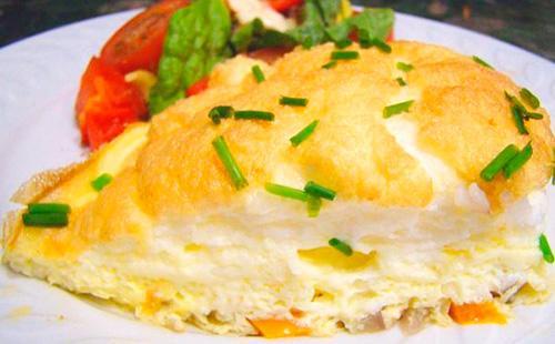 Как сделать омлет пышным на сковороде 🥝 делаем правильно высокий омлет из яиц