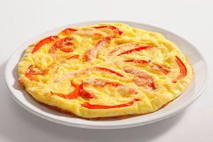 омлет в духовке рецепт с колбасой помидорами