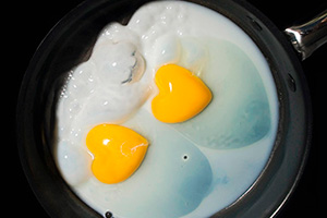Яичница с кефиром