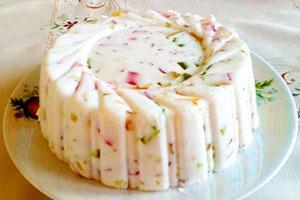 Торт-желе из творога и фруктов