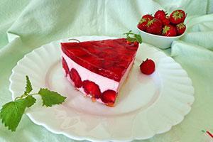 Чизкейк с ягодным желе