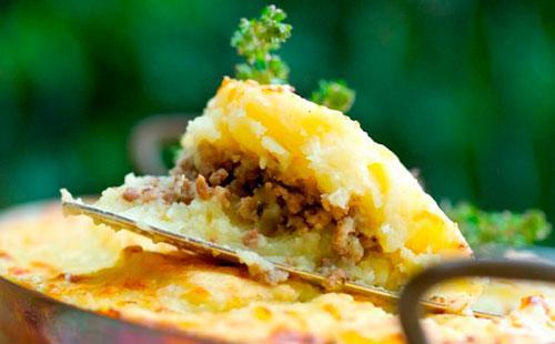 Картофельная запеканка с фаршем в духовке рецепт с фото