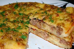 Рецепты в мультиварке фарш с картошкой в духовке