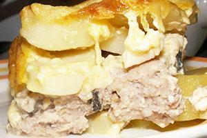 Классическая картофельная запеканка с мясом
