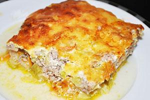 рецепт запеканки из кабачков и картофеля с фаршем