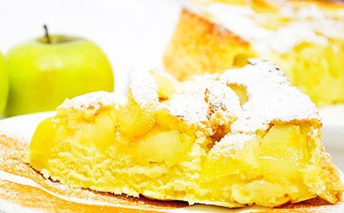рецепт шарлотки с 1 яйцом с яблоками в духовке