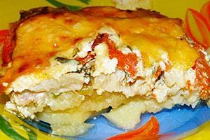 рецепт рыбной запеканки с фото