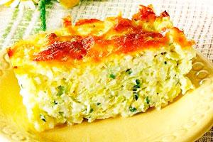 Кабачковая запеканка с рисом