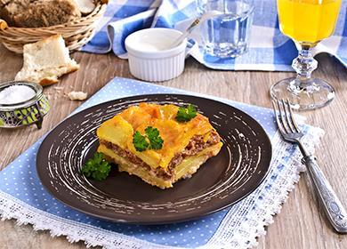 Картофельная запеканка с фаршем в мультиварке 🥝 мясная с картошкой, как приготовить с куриным филе