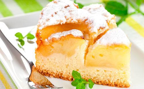 Рецепт шарлотки сяблоками накефире идругих кисломолочных продуктах