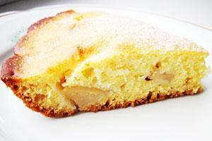 Пирог со сметаной с яблоками