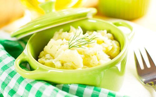 Картофельное пюре в зеленом горшочке