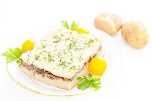 Запеканка из картофельного пюре с курицей