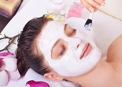 Белая маска для кожи