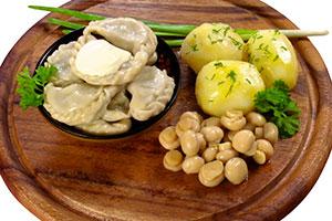 Вареники с картошкой и шампиньонами
