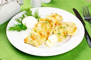 Классические картошки с салом и картофелем