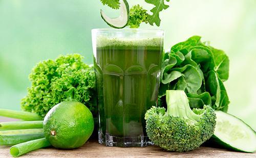 Зелень поможет вывести шлаки