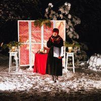 Зимняя церемония со свечами