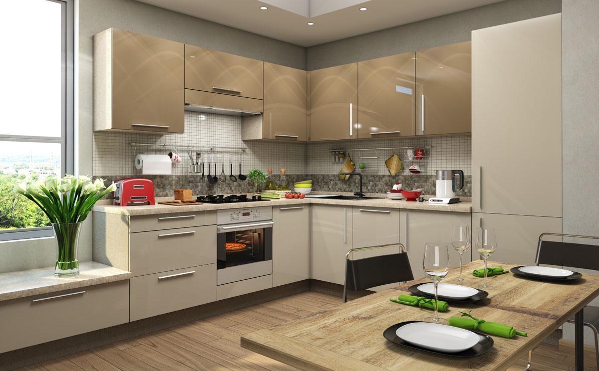 Дизайн больших кухонь в домах