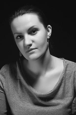 Портрет в черно-белом исполнении