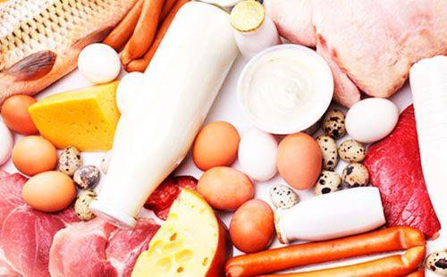 Яйца, молоко, сыр, сосиски