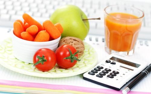 Овощи и калькулятор